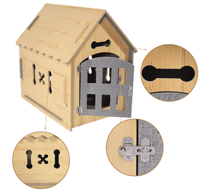Wood House Kennel for Small Dog or Cat