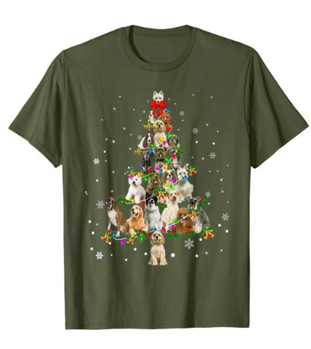 Dog Christmas Tree T-Shirt