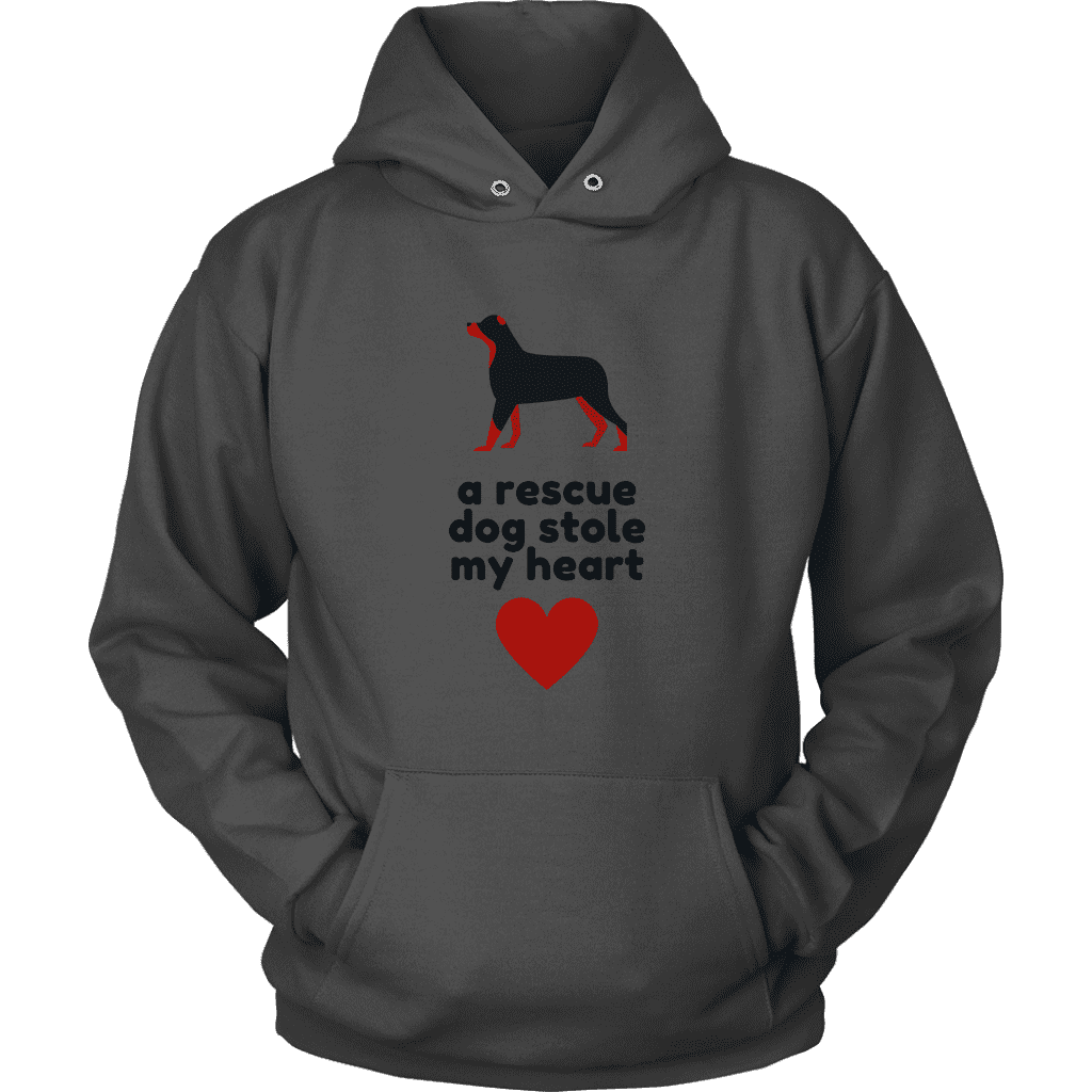 Women's A Rescue Dog Stole My Heart T-Shirt or Hoodie