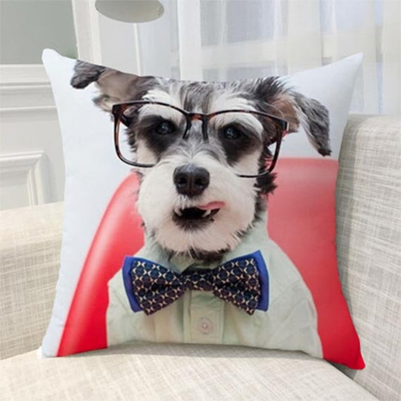 Custom Dog Throw Pillow