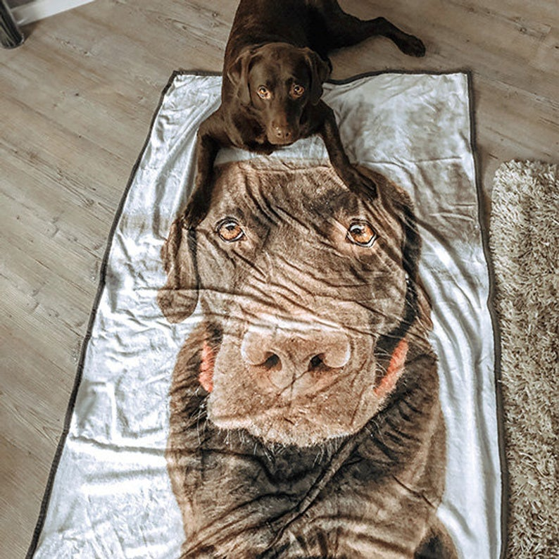 Custom Dog Photo Blanket