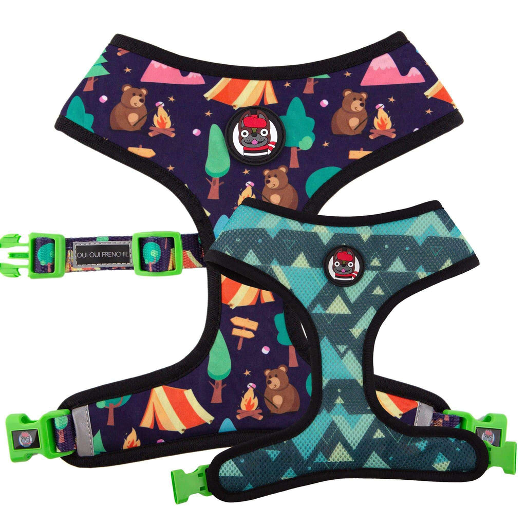 Dog Reversible Harness - Camping Style