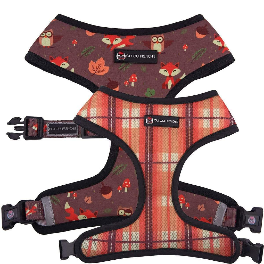 Dog Reversible Harness - Fall Style