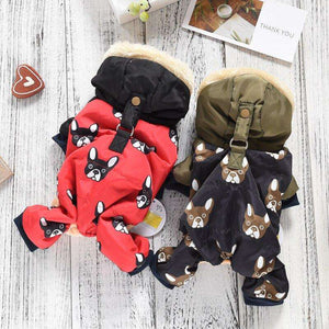 2019 New French Bulldog Costumes For Dog Winter Warm Snow Down Jacket Coat For Puppies Small Medium Animal Pet Cat Clothes Goods
