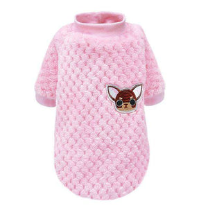 Cute Dog Clothes For Small Dogs Chihuahua Yorkies Pug Clothes Coat Winter Dog Clothing Pet Puppy Jacket Ropa Perro Pink S-2XL