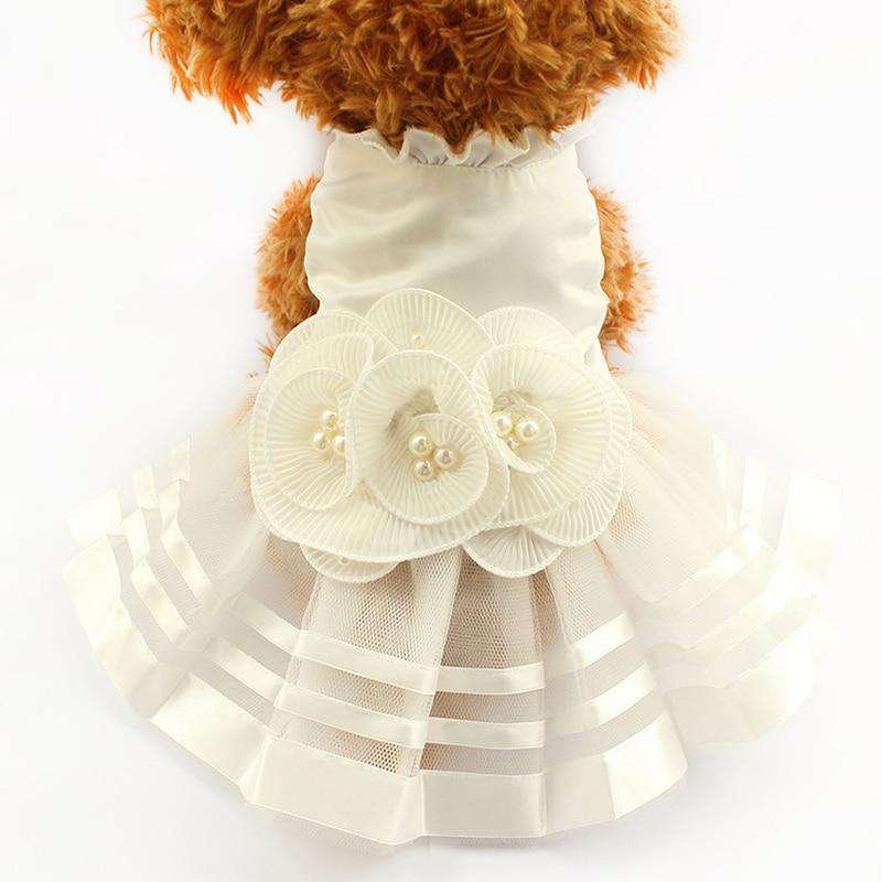 Dog Wedding Dress With Beautiful Bow
