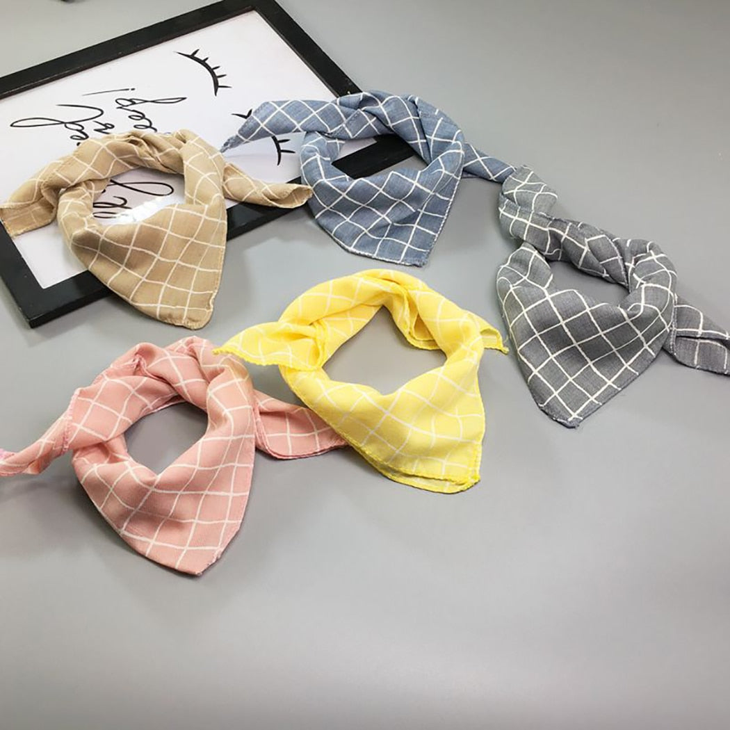 Plaid, Light-Colored Dog Bandanas