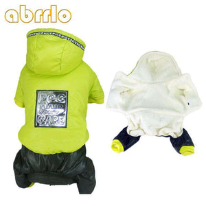 Abrrlo Dog Winter Clothes Thick Fleece Dog Hooded Parka Winter Warm Pets  Jumpsuits Coat Large Dog Clothes Chihuahua Bulldog XXL
