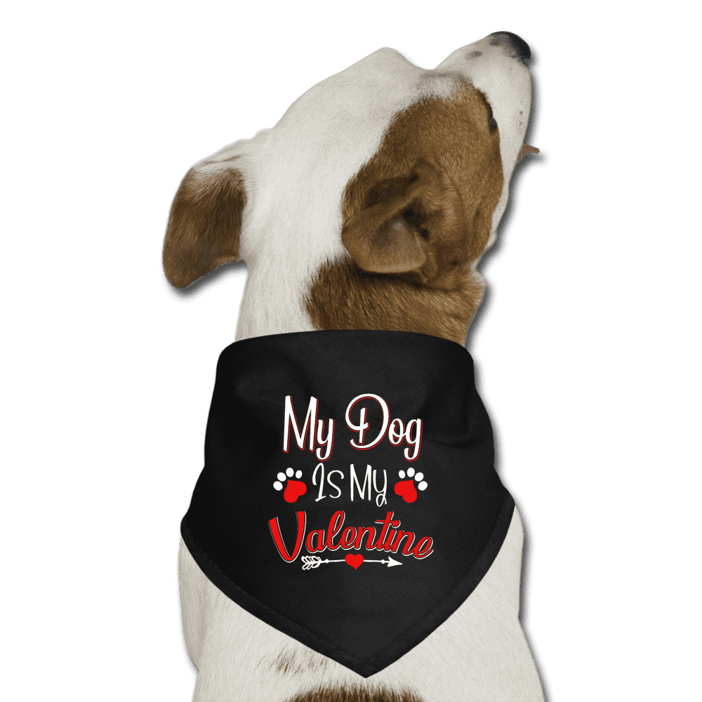 MY DOG IS MY VALENTINE Dog Bandana