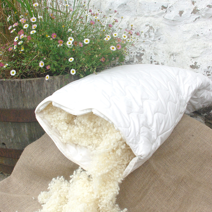 Organic Wool Pillow Pair - Abaca Mattresses