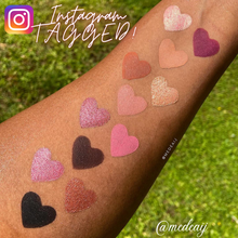 Load image into Gallery viewer, Lois Cosmetics Rose Metal Eyeshadow Palette Vegan Cruelty Free Paraben Free  Rose Toned Rosey Look Pink eyeshadow Metallic Matte Divine Beautiful Blend Makeup Red Eyeshadow Black Eyeshadow Palettes Shimmer High Quality Customer Makeup Artist Review  medaij