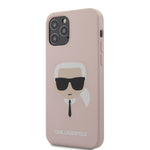 COQUE SILICONE ROSE MOTIF AVATAR KARL POUR IPHONE 12 - KARL®