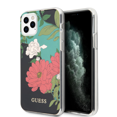 Guess Apple iPhone 11 - Noir Back cover coque - Motif floral