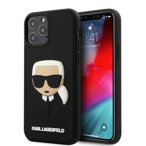 COQUE TPU GOMME NOIR MOTIF AVATAR KARL IPHONE SERIE 12 - KARL®