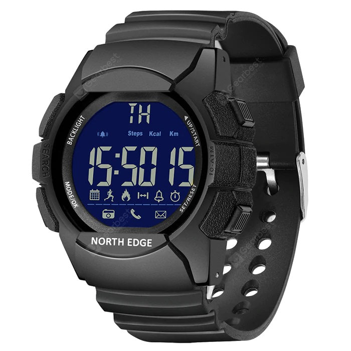 Reloj Militar para Hombre SMART WATCH, Resistente al Agua 100m NORTH EDGE para IOS y Android