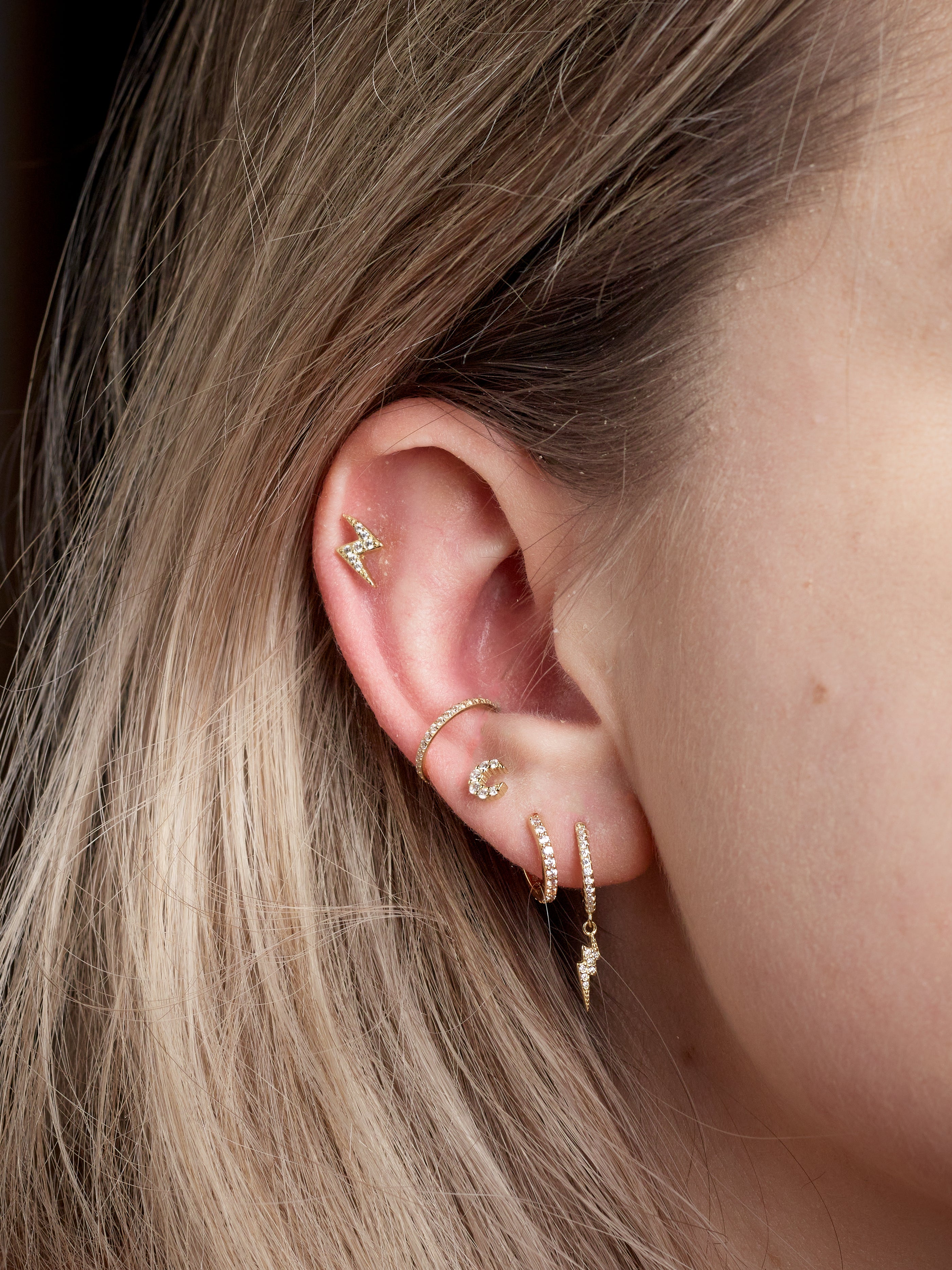 Stormi Sparkle Studs in Gold