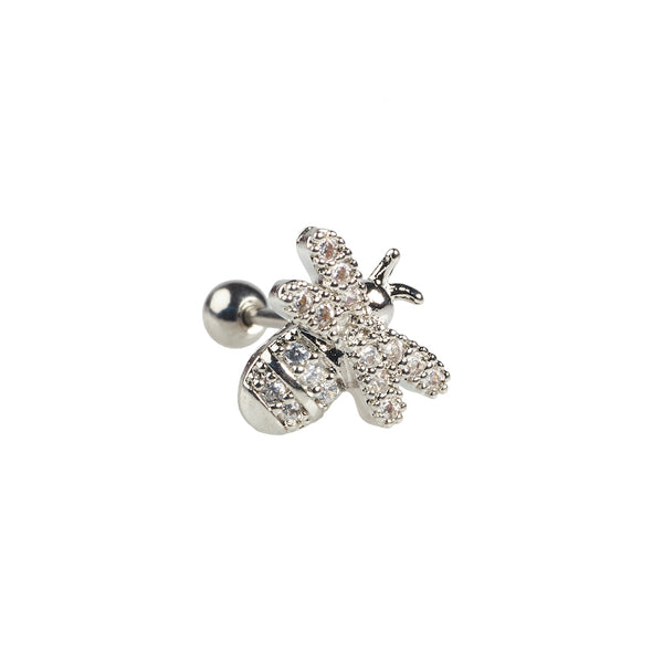 Bee Stud Silver