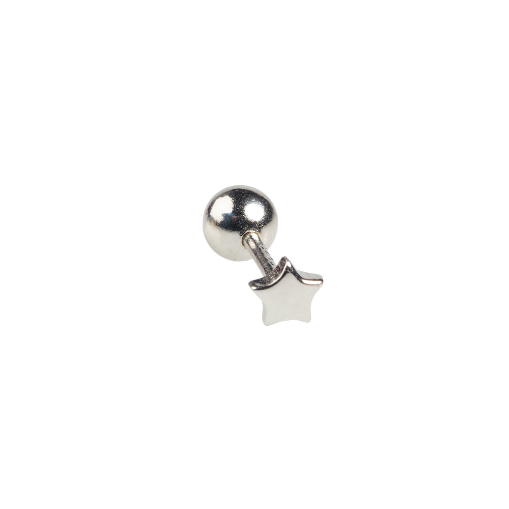 Tiny Star Stud Silver