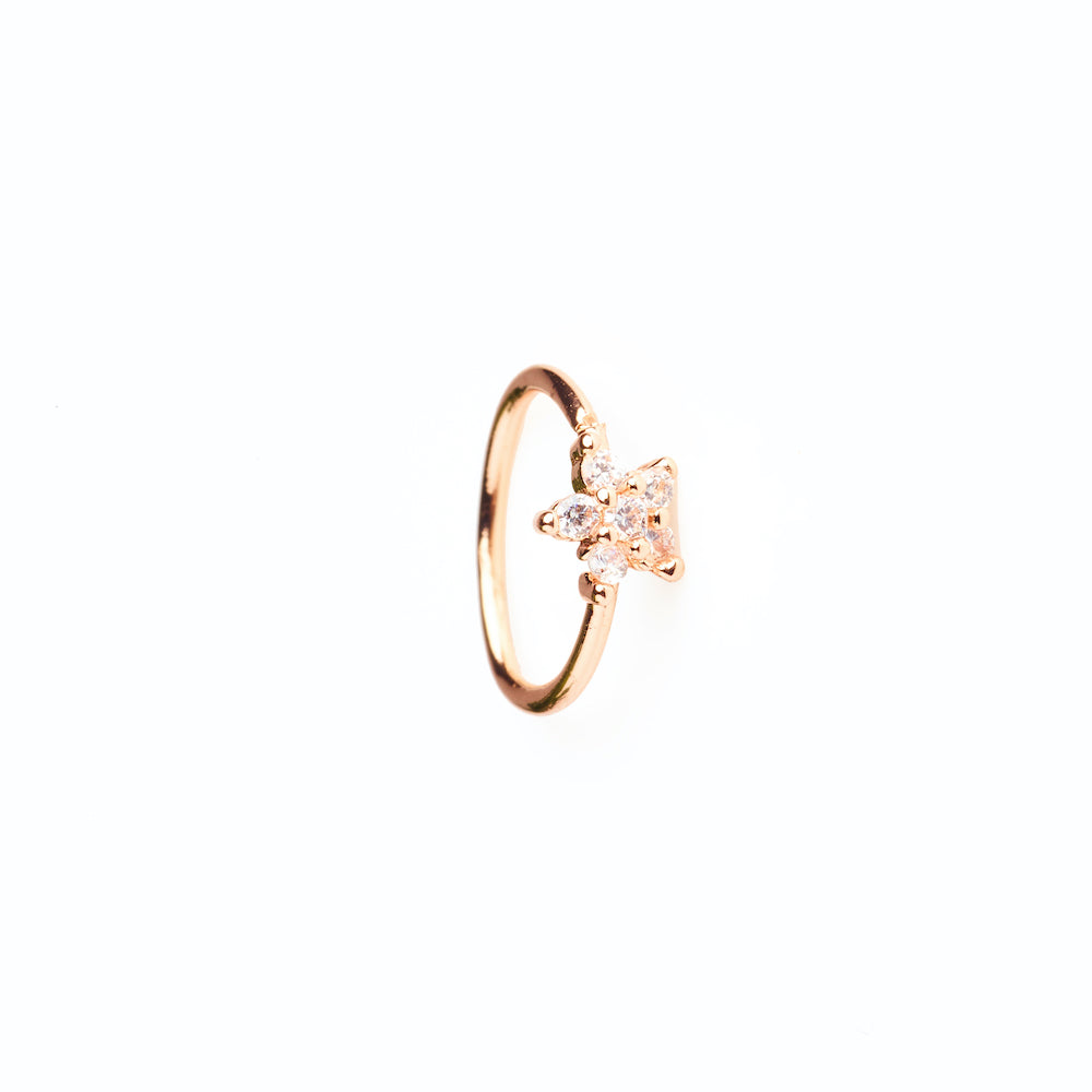 Star Sparkle Hoop Rose Gold