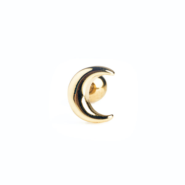 Crescent Stud in Gold