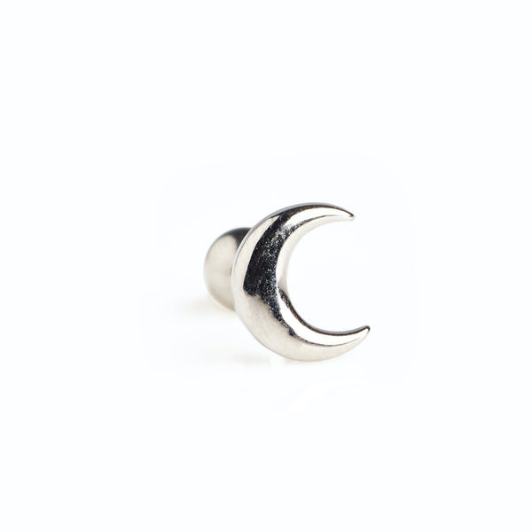 Crescent Stud in Silver