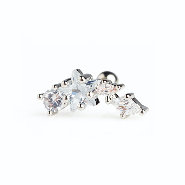 Constellation Climber Stud Silver