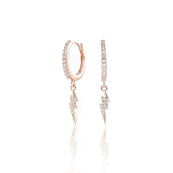 Stormi Hoops Rose Gold