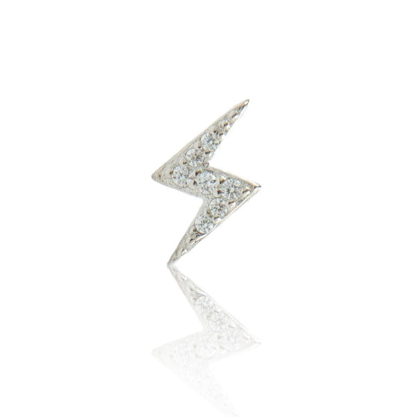 Stormi Sparkle Stud in Silver