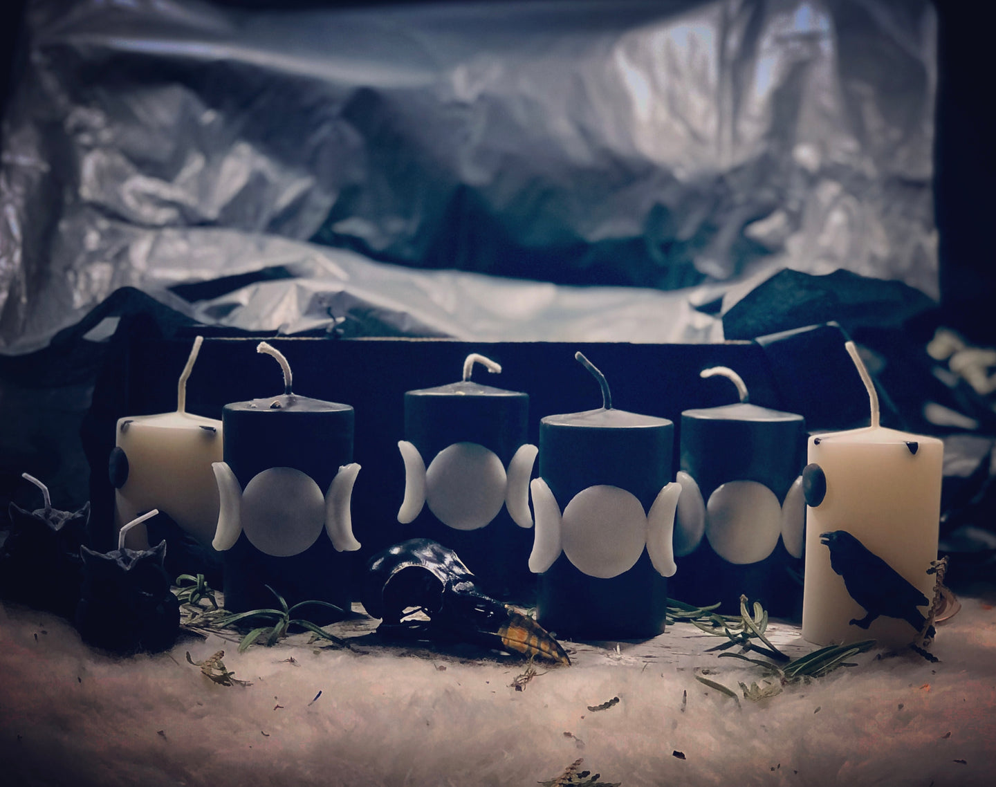 Triple Goddess Candles