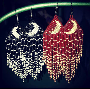 M O O N C H I L D Beaded earrings