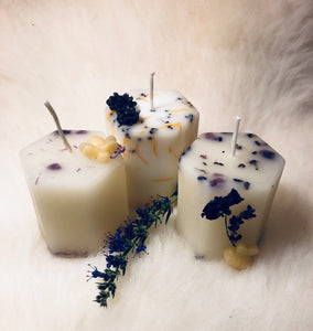 White Herbal Intention Candles