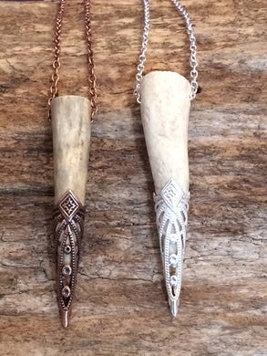 Filigree Antler Pendants