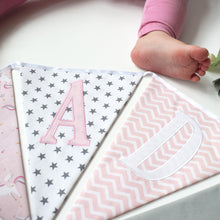 Load image into Gallery viewer, Personalised Pink Unicorn Bunting
