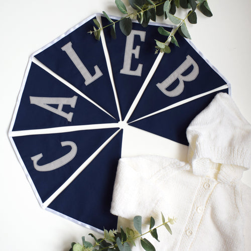 Personalised Navy Bunting