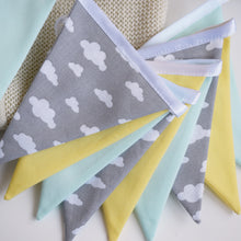 Load image into Gallery viewer, Mint, Grey Cloud and Yellow Bunting