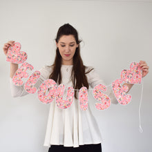 Load image into Gallery viewer, Personalised Pink Floral Name Garland