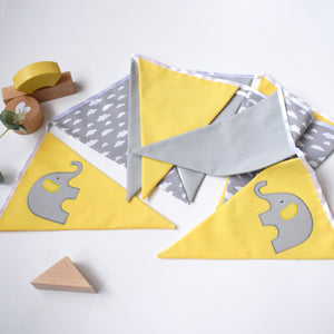 Elephant Yellow and Grey Cloud Bunting