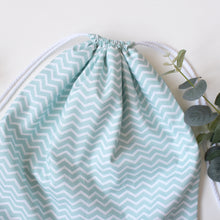 Load image into Gallery viewer, Chevron Drawstring Bag