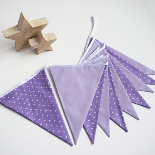 Purple Heart and Lilac Bunting