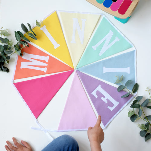 Personalised Pastel Rainbow Bunting
