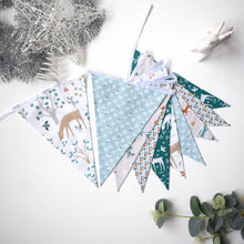 Load image into Gallery viewer, Teal Reindeer Friends Bunting