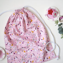 Load image into Gallery viewer, Pink Unicorn Drawstring Bag