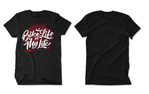 BASEBALL TEE - BIKELIFE (RED WHITE PRINT)