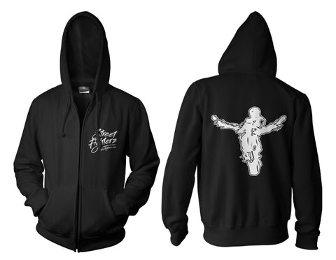 ZIP UP HOODIE - STUNTRIDE CALIGRAPHY