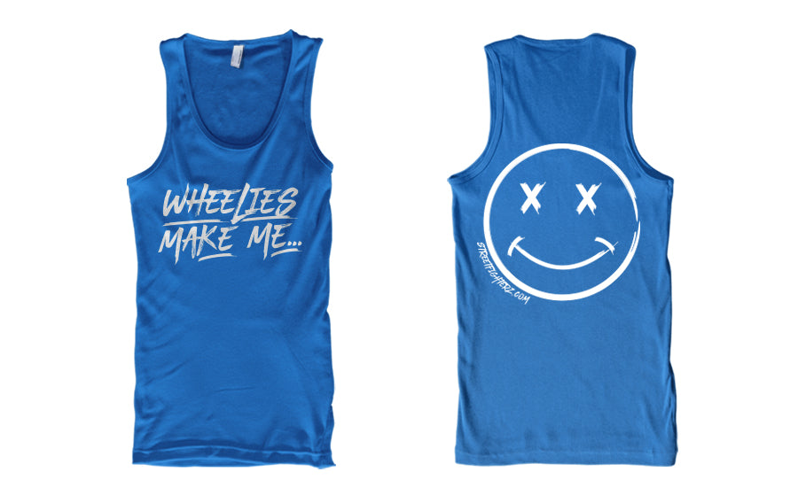 TANK - WHEELIES MAKE ME SMILE (WHITE PRINT)