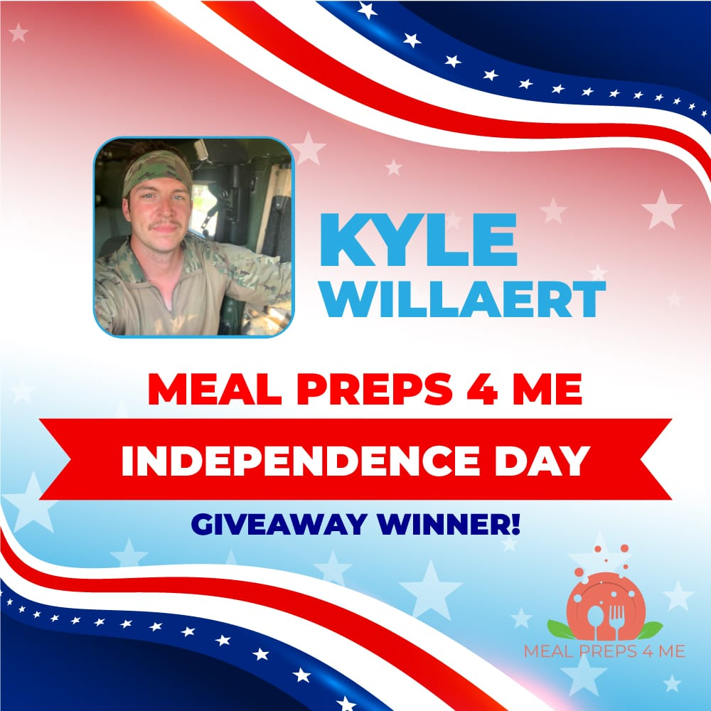 Winner of the Independence day hero giveaway Kyle Willaert