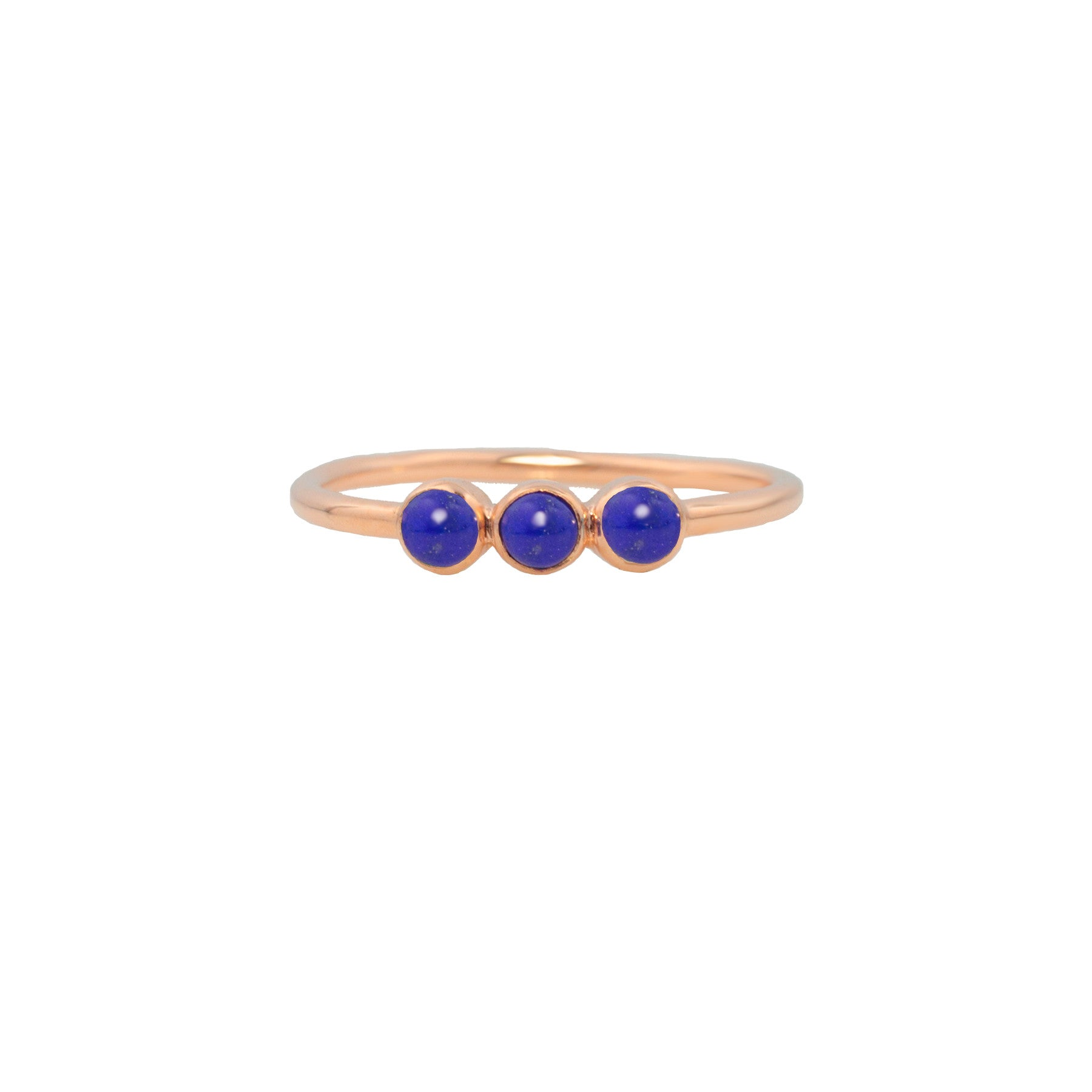 THREE SISTERS RING IN LAPIS