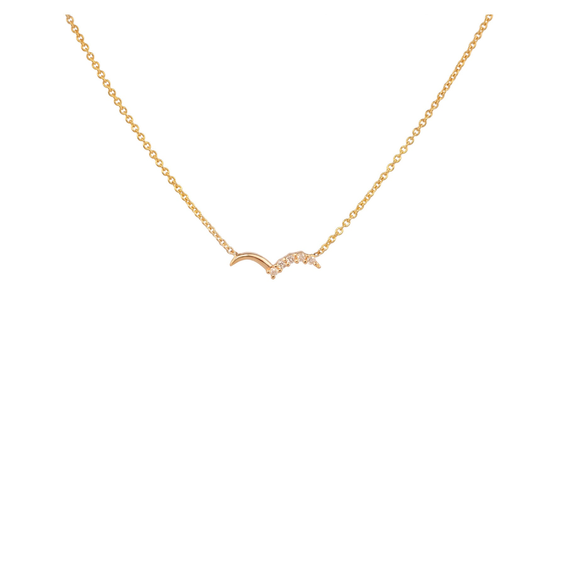 LITTLE WING NECKLACE WITH DIAMOND PAVÉ