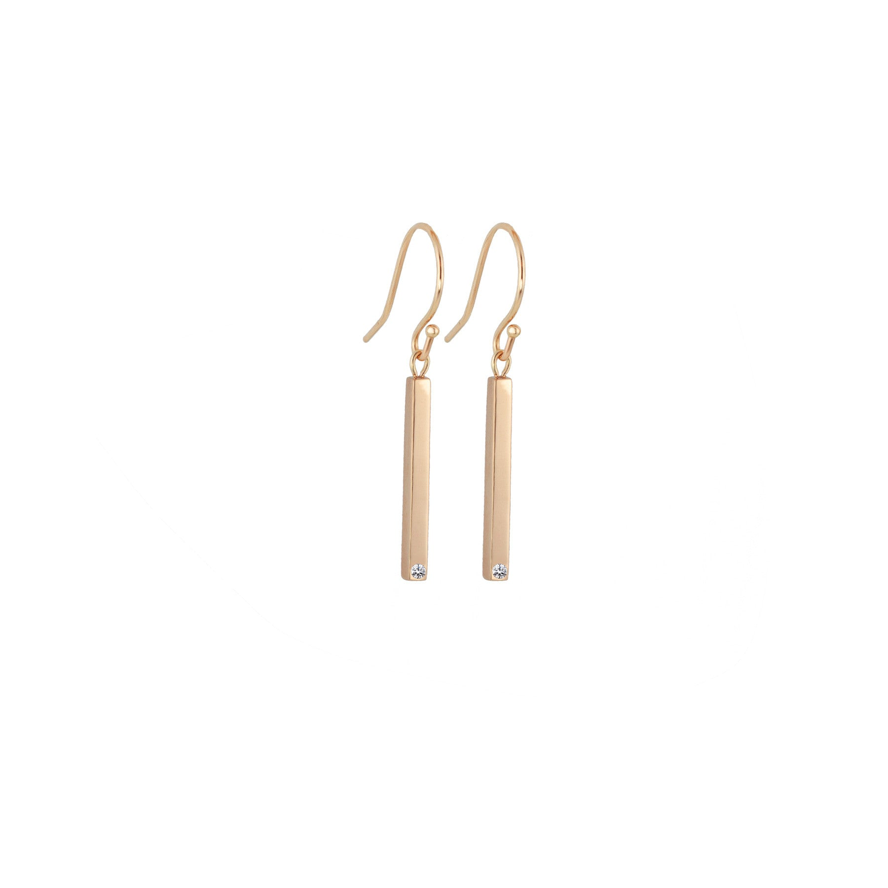 BAR EARRINGS WITH DIAMONDS