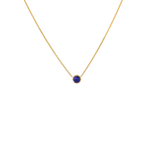 LAPIS BEZEL NECKLACE